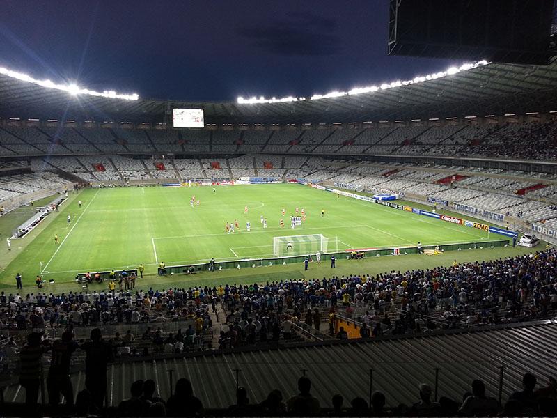 minha visão do estádio ridiculamente vazio ontem